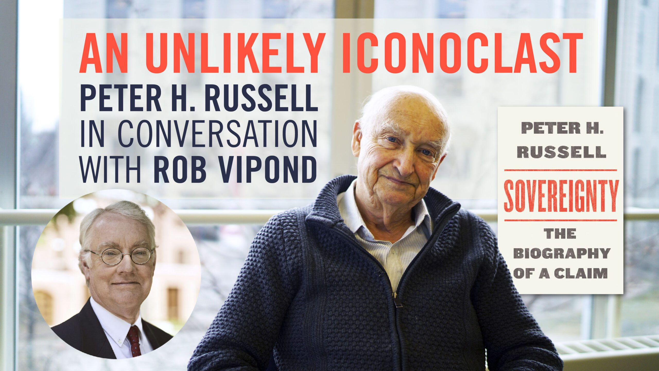 promotional header with headshots of peter russell and rob vipond and peter's new book cover